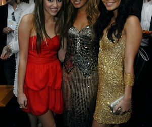 miley cyrus, ashley tisdale, and vanessa hudgens image