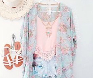kimono, simple outfit, and cute outfit image