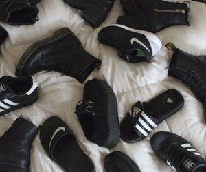 adidas, black shoes, and photography image