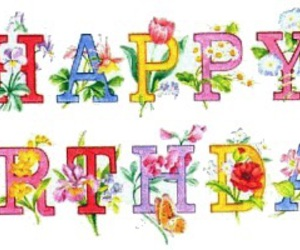birthday, b'day, and flower image
