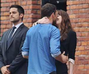 christian grey, anastasia steele, and love image