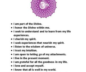 crown chakra affirmations image
