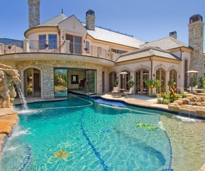 pool, dreamhouse, and house image