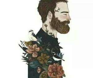 art, draw, and man image