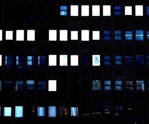blue, dark, and windows image