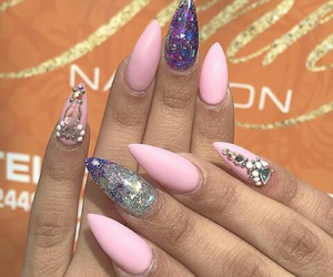 glitter, nails, and rhinestones image
