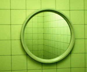 green, aesthetic, and mirror image