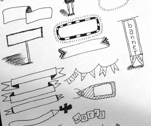 doodle, ideas, and letters image