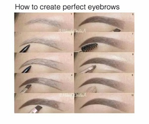 eyebrows, makeup, and girl image