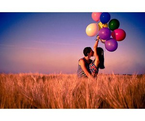 balloons and couple image