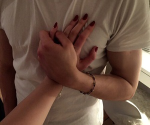boyfriend, hands, and happiness image