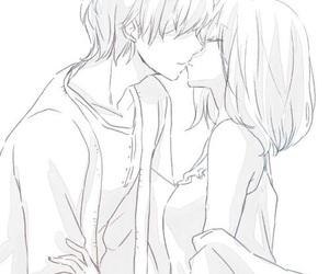 couple, kiss, and anime image