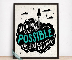 etsy, home decor, and motivational poster image