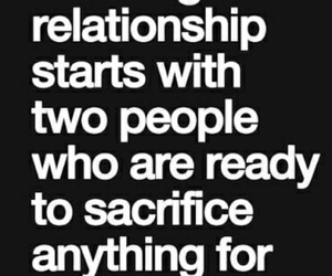 relationships, sacrifices, and strong image