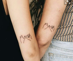 tattoo, friends, and promise image