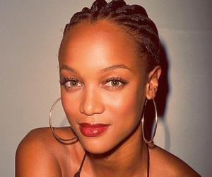 beautiful, red, and tyra banks image