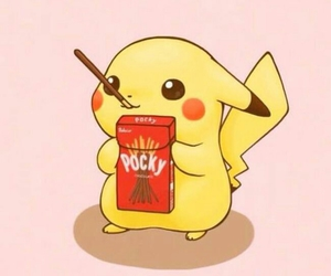 pikachu, pokemon, and pocky image