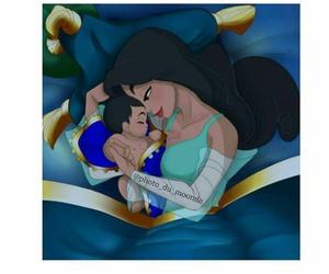 aladdin, couple, and drawing image