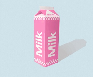 milk, pink, and pastel image