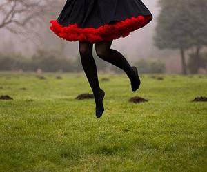 jump, dress, and black image