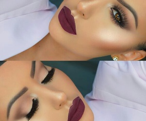 beauty, neutral, and makeup look image