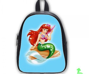 ariel, backpack, and mermaid image