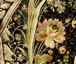 embroidery, flowers, and pattern image