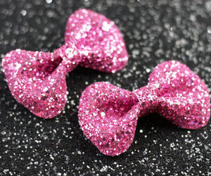 pink, bow, and glitter image