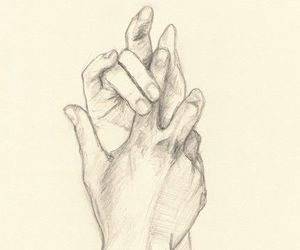hands, art, and draw image