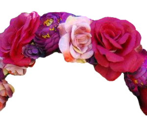 flower, flower crown, and flowers image