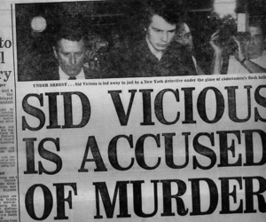 sid vicious, sex pistols, and murder image