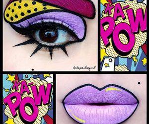 lips, makeup, and comic image