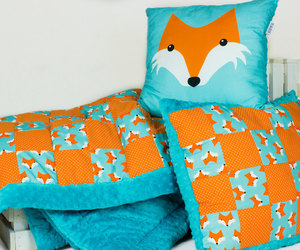 bedding, etsy, and orange image