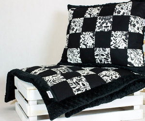 bedding, throws, and yellow image