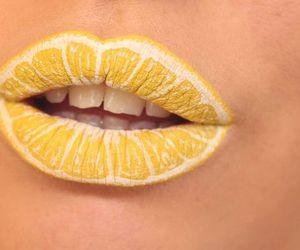 lips, yellow, and lemon image