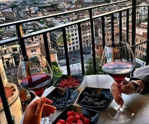 luxury, wine, and fruit image