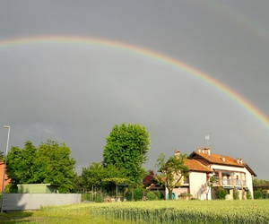 sky and doublerainbow image