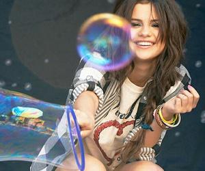 selena gomez, selena, and bubbles image