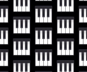 black, music, and pattern image