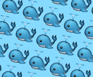 pattern, whale, and emoji image