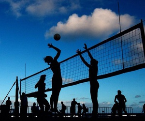 volleyball, photography, and sport image