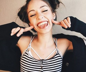 funny, girl, and smile image