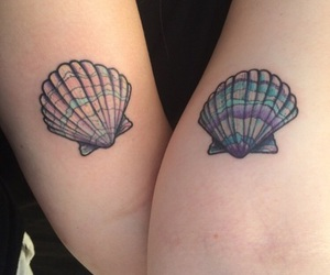 ocean, tattoo, and shell image
