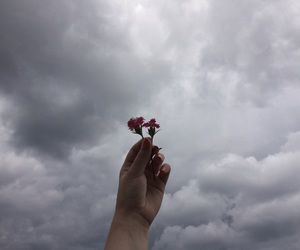 grunge, aesthetic, and clouds image