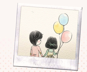 balloons, cute, and couple image