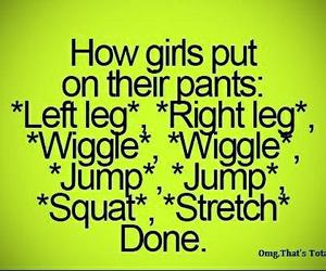 girl, pants, and funny image