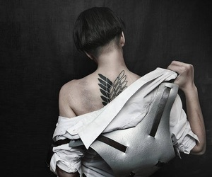 levi, attack on titan, and cosplay image