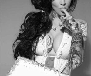 alternative, kim kardashian, and black and white image