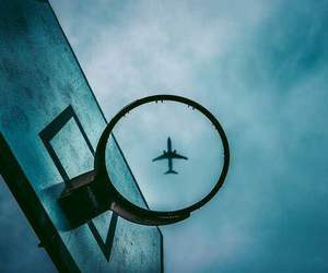 sky, airplane, and Basketball image