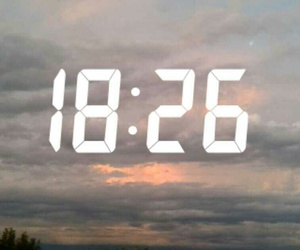 clouds, hour, and sky image